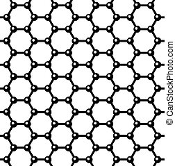Graphene Seamless Pattern. Vector - Graphene Seamless...