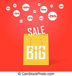 Vector big sale promotion discount background