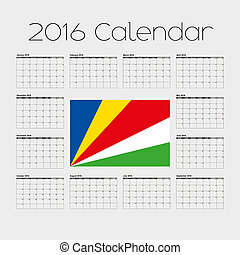 2016 Calendar with the Flag of Seychelles - A 2016 Calendar...