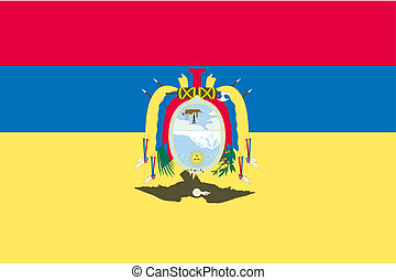 180 Degree Rotated Flag of Ecuador - A 180 Degree Rotated...