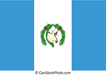 180 Degree Rotated Flag of Guatemala - A 180 Degree Rotated...