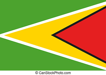 180 Degree Rotated Flag of Guyana - A 180 Degree Rotated...