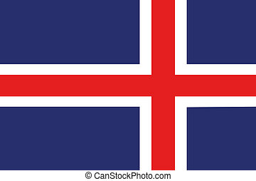 180 Degree Rotated Flag of Iceland - A 180 Degree Rotated...