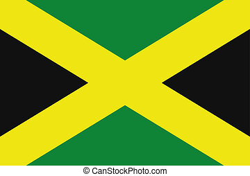 180 Degree Rotated Flag of Jamaica - A 180 Degree Rotated...