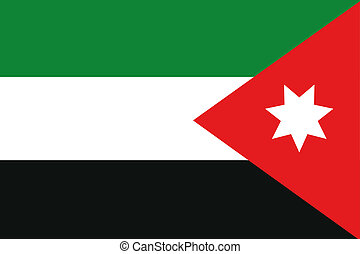 180 Degree Rotated Flag of Jordan - A 180 Degree Rotated...