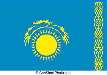 180 Degree Rotated Flag of Kazakstan - A 180 Degree Rotated...