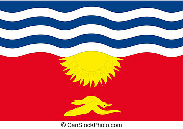 180 Degree Rotated Flag of Kiribati - A 180 Degree Rotated...