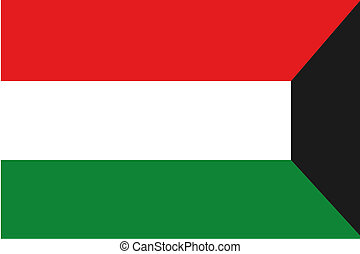 180 Degree Rotated Flag of Kuwait - A 180 Degree Rotated...