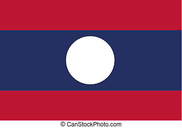 180 Degree Rotated Flag of Laos - A 180 Degree Rotated Flag...