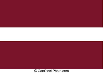 180 Degree Rotated Flag of Latvia - A 180 Degree Rotated...