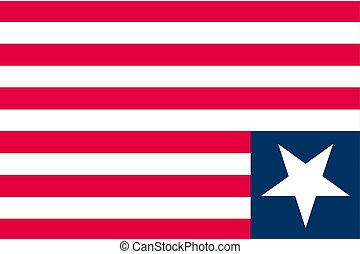 180 Degree Rotated Flag of Liberia - A 180 Degree Rotated...