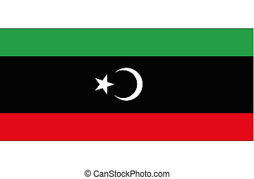 180 Degree Rotated Flag of Libya-46 - A 180 Degree Rotated...