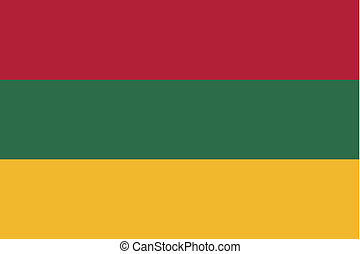 180 Degree Rotated Flag of Lithuania - A 180 Degree Rotated...