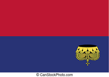 180 Degree Rotated Flag of Liechtenstein - A 180 Degree...