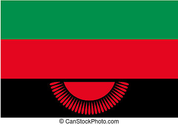 180 Degree Rotated Flag of Malawi - A 180 Degree Rotated...