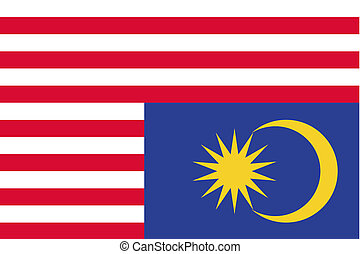 180 Degree Rotated Flag of Malaysia - A 180 Degree Rotated...