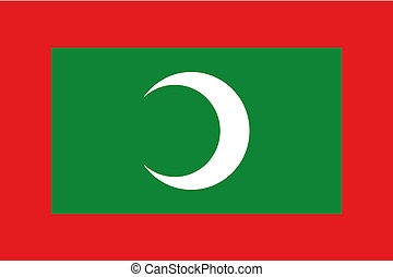 180 Degree Rotated Flag of Maldives - A 180 Degree Rotated...