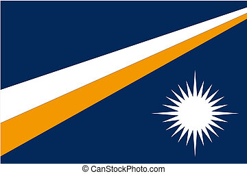 180 Degree Rotated Flag of Marshall Islands - A 180 Degree...