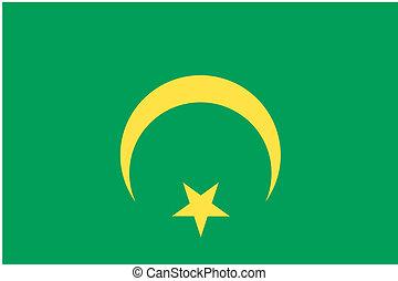 180 Degree Rotated Flag of Mauritania - A 180 Degree Rotated...