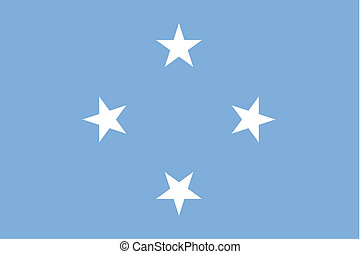 180 Degree Rotated Flag of Micronesia - A 180 Degree Rotated...