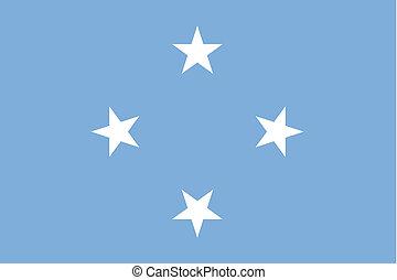 180 Degree Rotated Flag of Micronesia - A 180 Degree Rotated...
