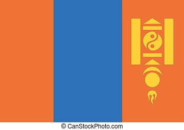 180 Degree Rotated Flag of Mongolia - A 180 Degree Rotated...