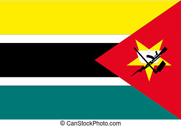 180 Degree Rotated Flag of Mozambique - A 180 Degree Rotated...