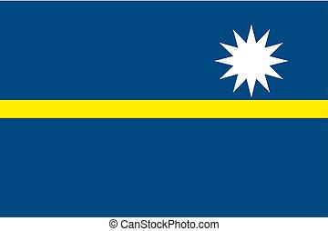 180 Degree Rotated Flag of Nauru - A 180 Degree Rotated Flag...