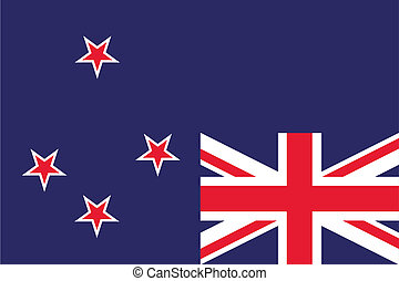 180 Degree Rotated Flag of New Zealand - A 180 Degree...