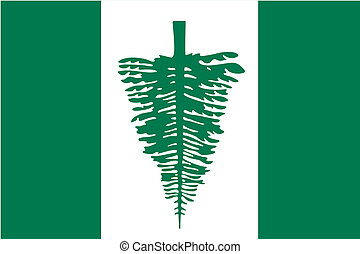 180 Degree Rotated Flag of Norfolk - A 180 Degree Rotated...