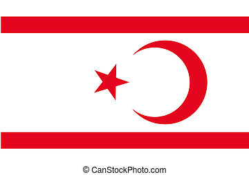 180 Degree Rotated Flag of Northern Cyprus - A 180 Degree...