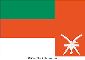 180 Degree Rotated Flag of Oman - A 180 Degree Rotated Flag...