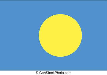 180 Degree Rotated Flag of Palau - A 180 Degree Rotated Flag...