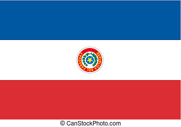 180 Degree Rotated Flag of Paraguay - A 180 Degree Rotated...