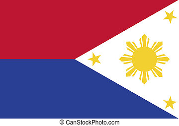 180 Degree Rotated Flag of Philippines - A 180 Degree...