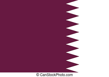 180 Degree Rotated Flag of Qatar - A 180 Degree Rotated Flag...