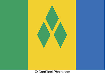 180 Degree Rotated Flag of Saint Vincents and the Grenadines...