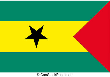 180 Degree Rotated Flag of Sao Tome E Principe - A 180...