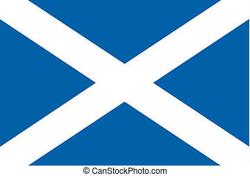 180 Degree Rotated Flag of Scotland - A 180 Degree Rotated...