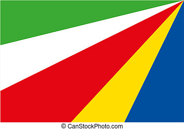 180 Degree Rotated Flag of Seychelles - A 180 Degree Rotated...