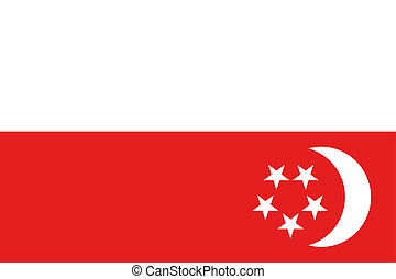 180 Degree Rotated Flag of Singapore - A 180 Degree Rotated...