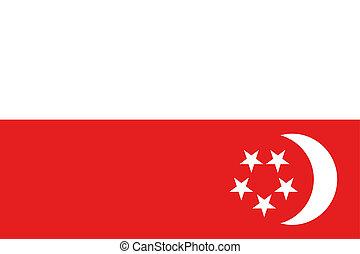 180 Degree Rotated Flag of Singapore - A 180 Degree Rotated...