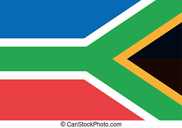 180 Degree Rotated Flag of South Africa - A 180 Degree...