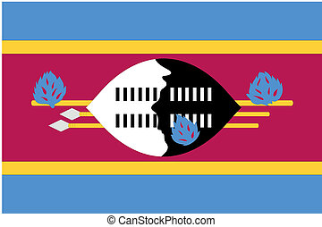 180 Degree Rotated Flag of Swaziland - A 180 Degree Rotated...
