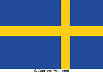 180 Degree Rotated Flag of Sweden - A 180 Degree Rotated...