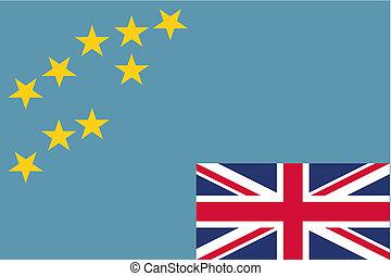 180 Degree Rotated Flag of Tavalu - A 180 Degree Rotated...