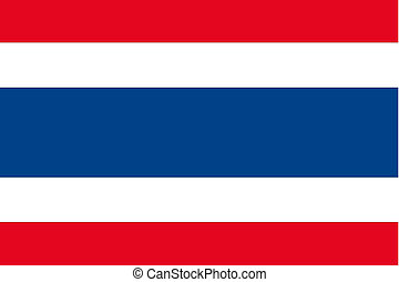 180 Degree Rotated Flag of Thailand - A 180 Degree Rotated...