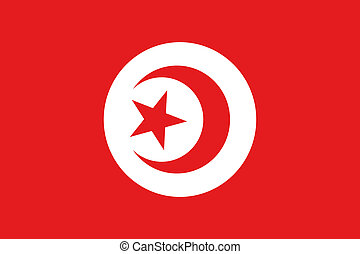 180 Degree Rotated Flag of Tunisia - A 180 Degree Rotated...