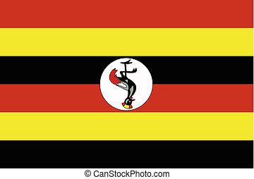 180 Degree Rotated Flag of Uganda - A 180 Degree Rotated...