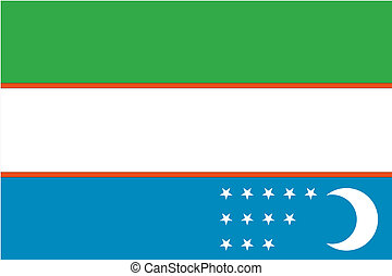 180 Degree Rotated Flag of Uzbekistan - A 180 Degree Rotated...